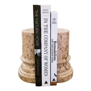 Marble Column Bookends For Sale