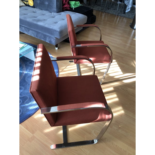 Mid-Century Modern 1970s Vintage Knoll Brno Flat Bar Chairs- A Pair For Sale - Image 3 of 13