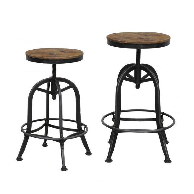 Cool Reclaimed Wood Iron Counter Stool Ibusinesslaw Wood Chair Design Ideas Ibusinesslaworg