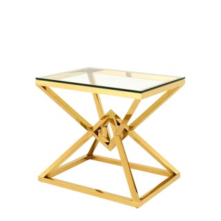 Connor Gold Side Table For Sale
