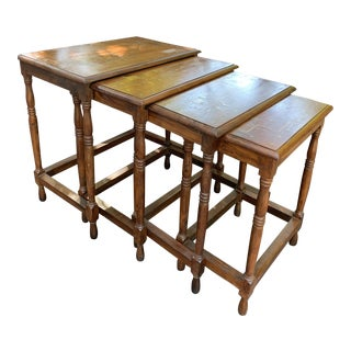 Traditional Wood Nesting Tables - Set of 4 For Sale