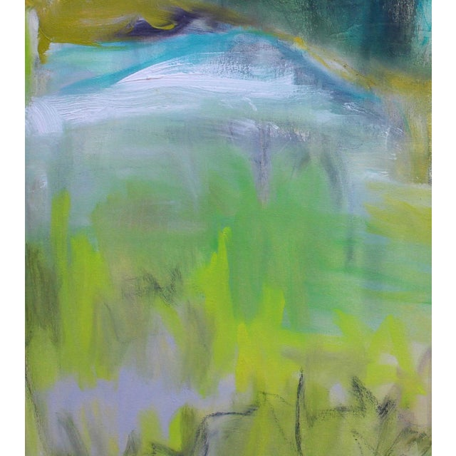 """Abstract """"Rocky Mountain Morning"""" by Trixie Pitts Large Abstract Landscape Oil Painting For Sale - Image 3 of 10"""