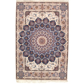 "Pasargad Persian Isfahan Handmade Silk & Wool - 6'9"" X 10'2"" For Sale"