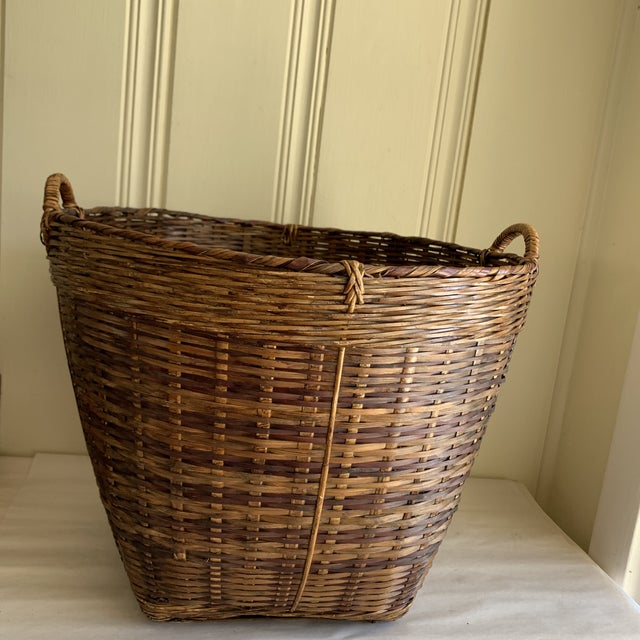 Earthy Wood Rustic Decor & Storage Basket For Sale - Image 9 of 9