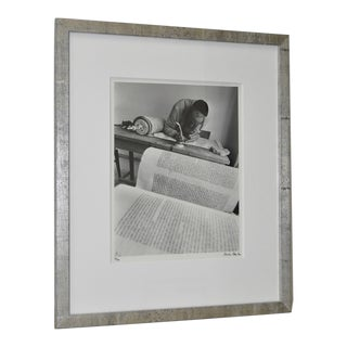 "1971 Micha Bar-Am ""Torah Scribe, Jaffa"" Original Signed Photograph For Sale"