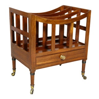 Regency Style Mahogany Canterbury For Sale