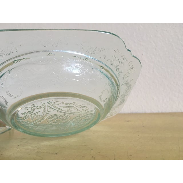 Depression Era Mint Glass Lidded Serving Dish - Image 6 of 8