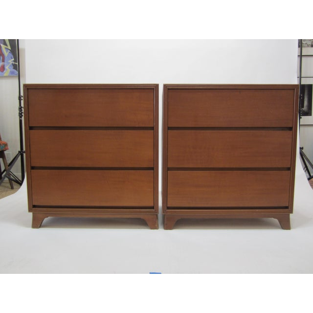 Flared Leg Chests of Drawers - A Pair - Image 3 of 10