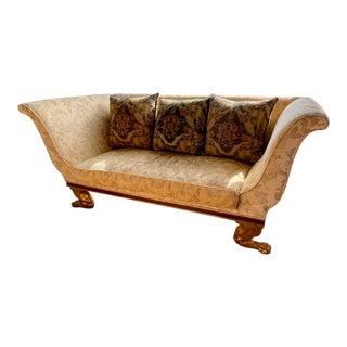 Quatrain Regency Style Giltwood & Mahogany Sofa - Dessin Fournir For Sale