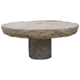 Early 19th Century Round Millstone Table From Sicily For Sale