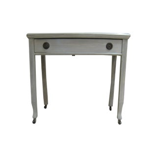 Vintage Grey Faux Finished Side Table Desk For Sale