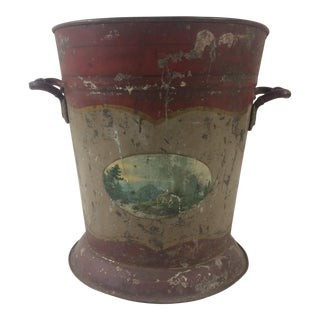 Painted Tole Bucket