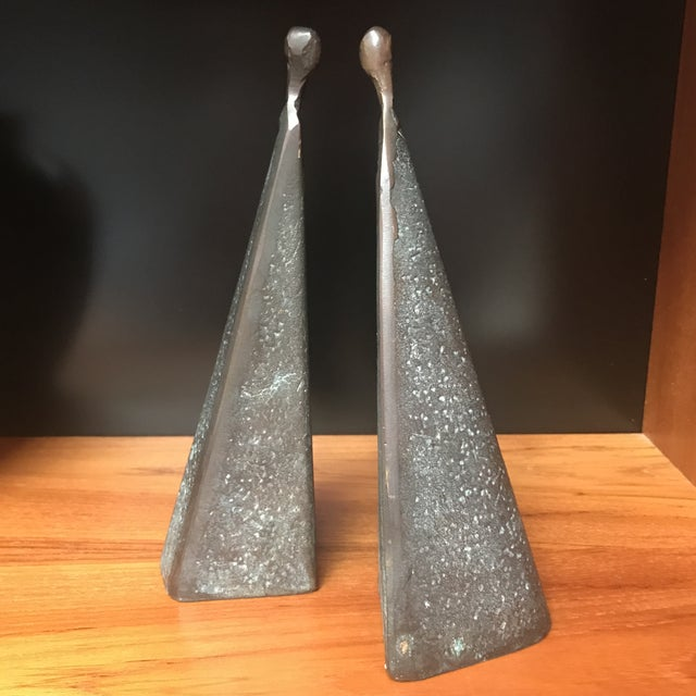 Bronze Modernist Female Figures - A Pair - Image 6 of 6
