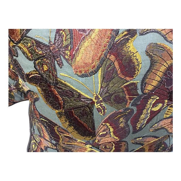 Tapestry Butterfly Pillows - Pair - Image 2 of 5