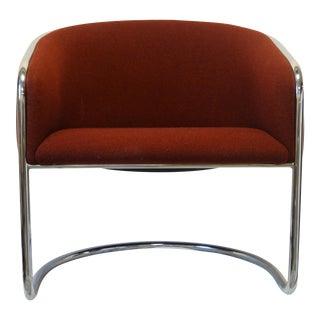 Anton Lorenz for Thonet Cantilevered Chrome Club Chair