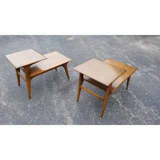 Mid Century Modern Heywood Wakefield 2 Tier Side Tables - Pair Preview