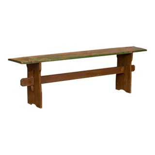 Antique Painted Pine Bench For Sale