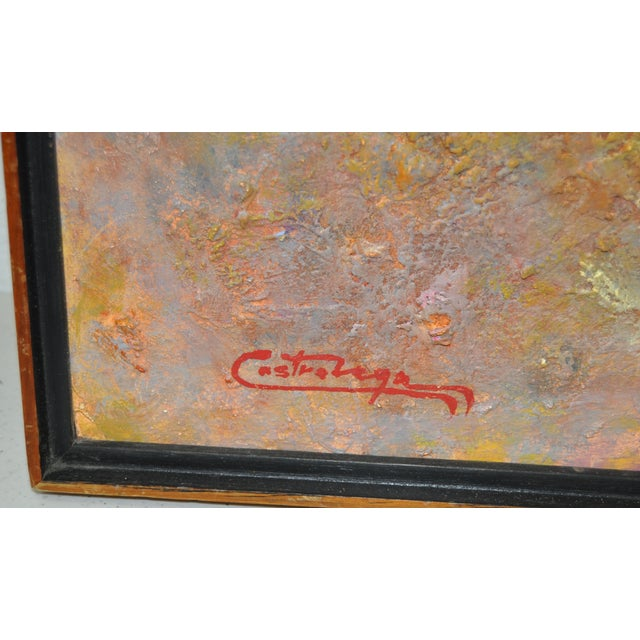 Impressionism Vintage 1970s Abstract Painting For Sale - Image 3 of 5