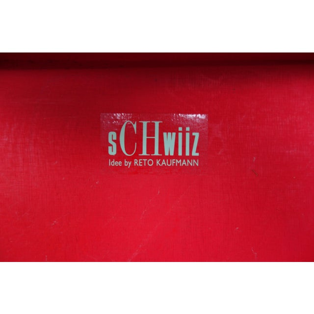 """Switzerland's 700th Independence Day """"Schwiiz"""" Chair For Sale - Image 10 of 11"""
