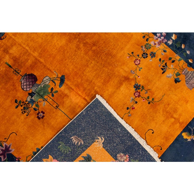 """Apadana-Antique Chinese Rug, 8'10"""" X 11'10"""" For Sale - Image 4 of 10"""