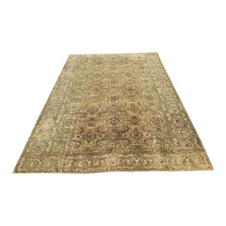 Oversized Hand Knotted Oushak Rug For Sale