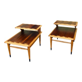 Vintage Mid Century Lane Acclaim Step Tables - a Pair For Sale