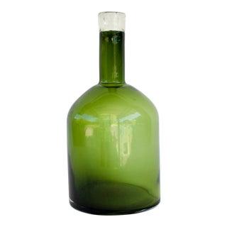 Vintage Green Demijohn Bottle