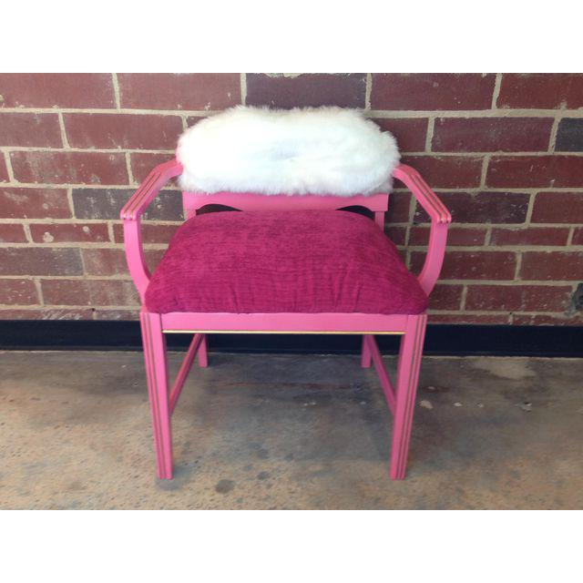 This Suga Lane Painted bench will be a wonderful addition to your glam decor. This Art Deco Vanity Bench is decked out in...