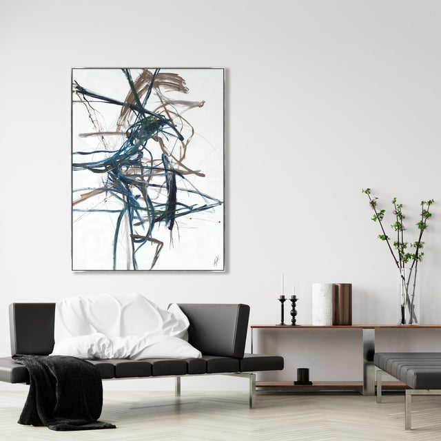 A fabulous on trend, wonderfully colored gallery-wrapped giclee print on canvas by renowned artist Kelly O'Neal. It is...