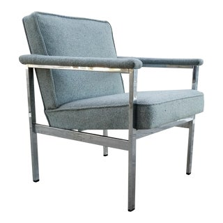 Art Metal Chrome Side Armchair 1960's For Sale