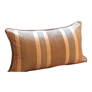 "Handwoven Krama Khmer Pillow with Pompom - 23"" x 13"""