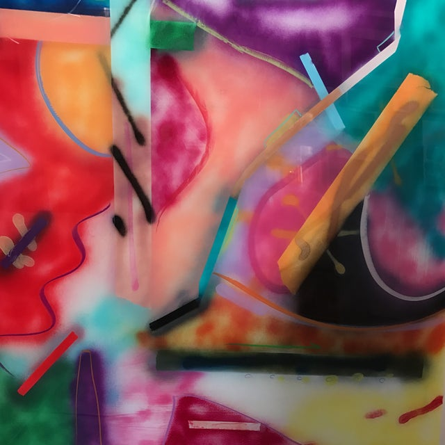 Jack Schulz Abstract Reverse Painting on Acrylic - Image 7 of 10