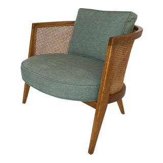 Harvey Probber Cane Back Lounge Chair