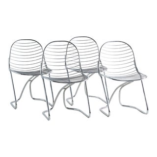 Chrome Gastone Rinaldi for Rima Dining Chairs, Set of 4 For Sale
