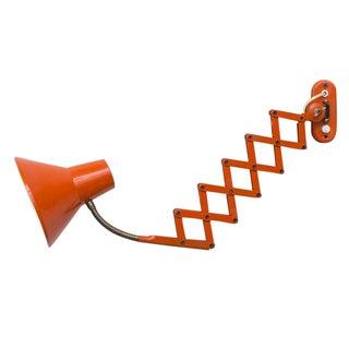 Hala Zeist Orange Enameled Scissor Wall Lamp