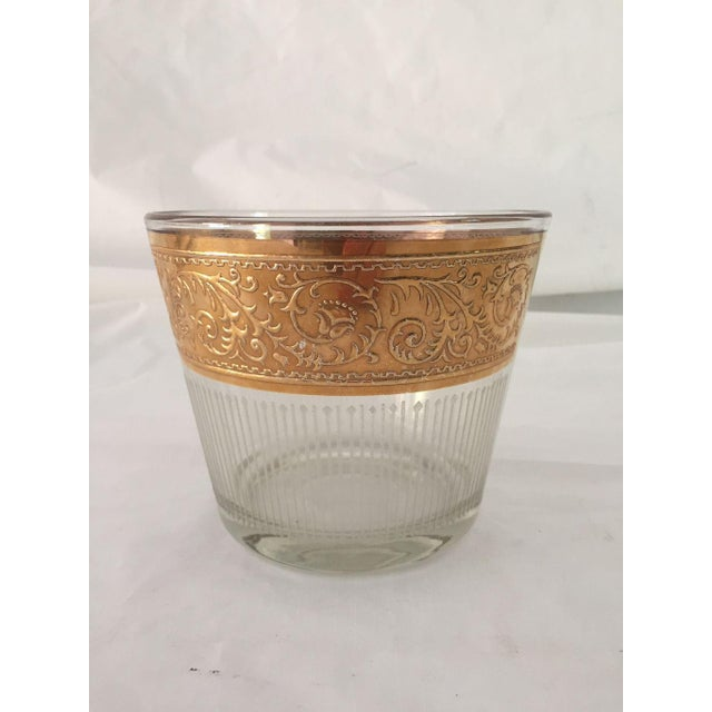 1960s Hollywood Recency Rose Gold & Clear Glass Ice Bucket For Sale In New York - Image 6 of 6