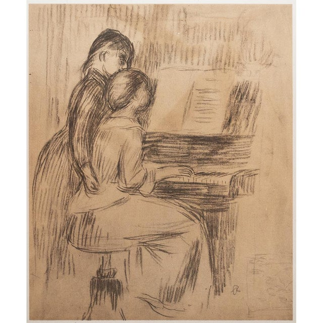 "Brown 1959 Large ""The Music Lesson"" by Renoir, Lithograph For Sale - Image 8 of 10"