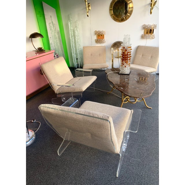 Mid-Century Modern Pair of Lucite Armchairs by Baumann, Germany, 1970s For Sale - Image 3 of 13