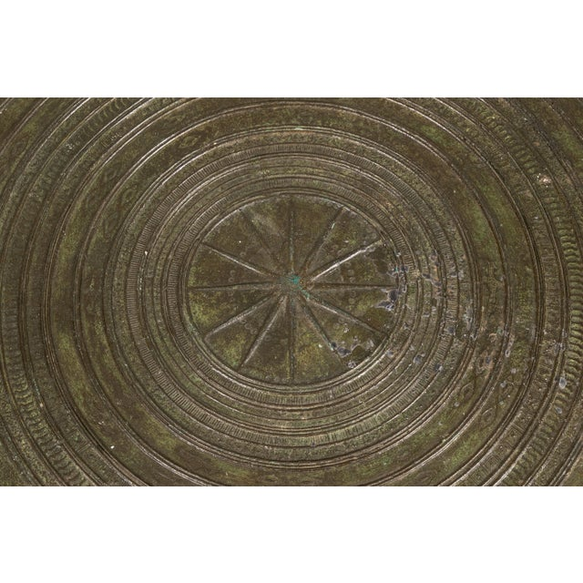 South Asian Bronze Rain Drum Table For Sale - Image 9 of 10