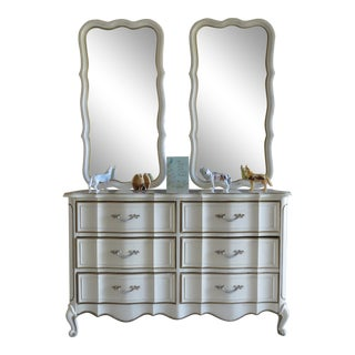 Vintage Broyhill Dresser With Mirrors For Sale