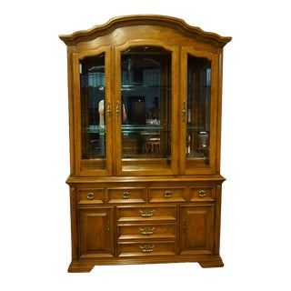 Thomasville Furniture Villager Collection China Cabinet For Sale