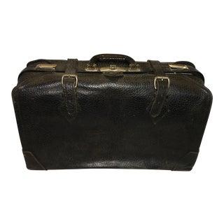 Vintage Carson Quality Seal Skin Suitcase For Sale