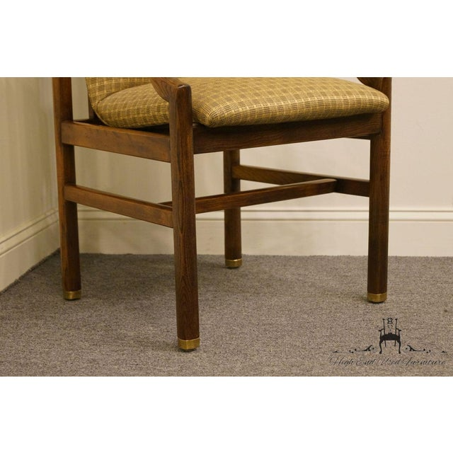 Textile Henredon Mid-Century Modern Solid Walnut Dining Arm Chair For Sale - Image 7 of 13
