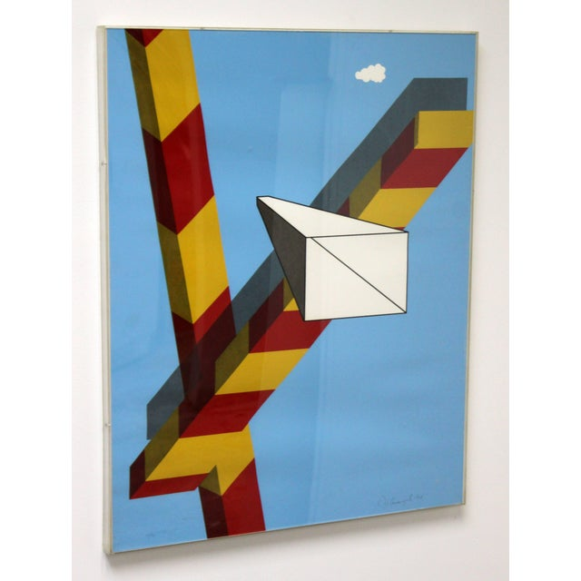 1960s 1968 Mid-Century Modern Allan d'Arcangelo Abstract Surrealist Print For Sale - Image 5 of 9