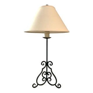 Dana Creath Design Hand Forged Table Lamp For Sale