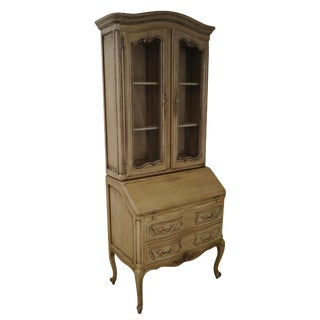 French Louis XV Style Painted Secretary Desk
