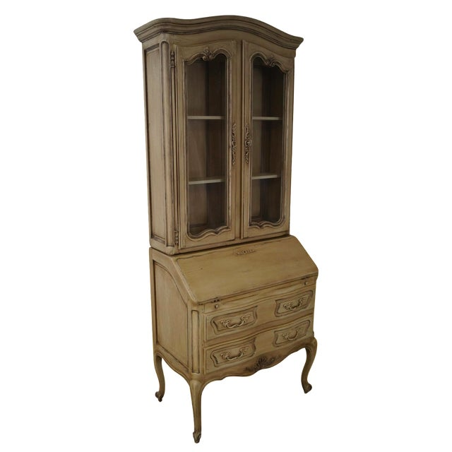 French Louis XV Style Painted Secretary Desk - Image 1 of 10