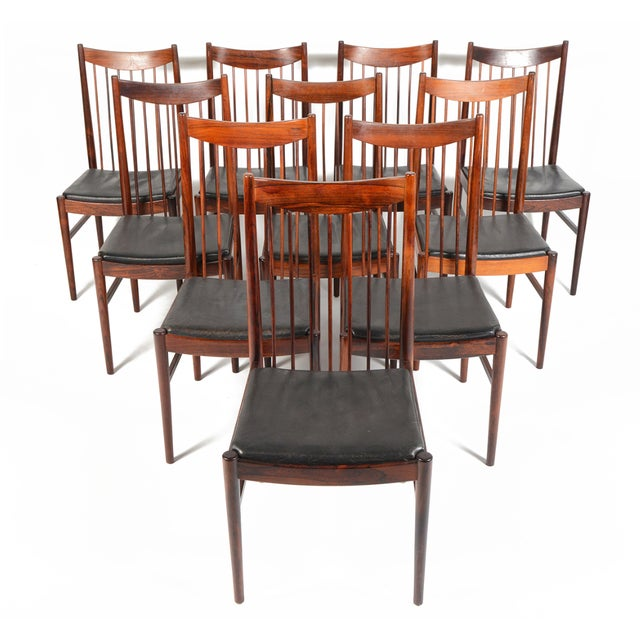 Arne Vodder Rosewood Dining Chairs - Set of 10 - Image 1 of 10