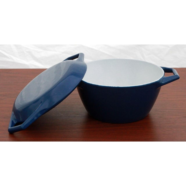 Vintage Blue Michael Lax for Copco Danish Modern Cast Iron Dutch Oven For Sale - Image 5 of 8