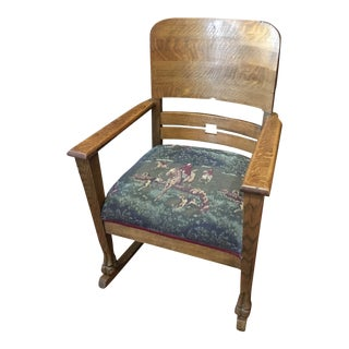 1900s Antique Arts and Craft Mission Rocking Chair For Sale